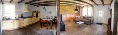 Küche und Wohnzimmer (offene Wohnung)